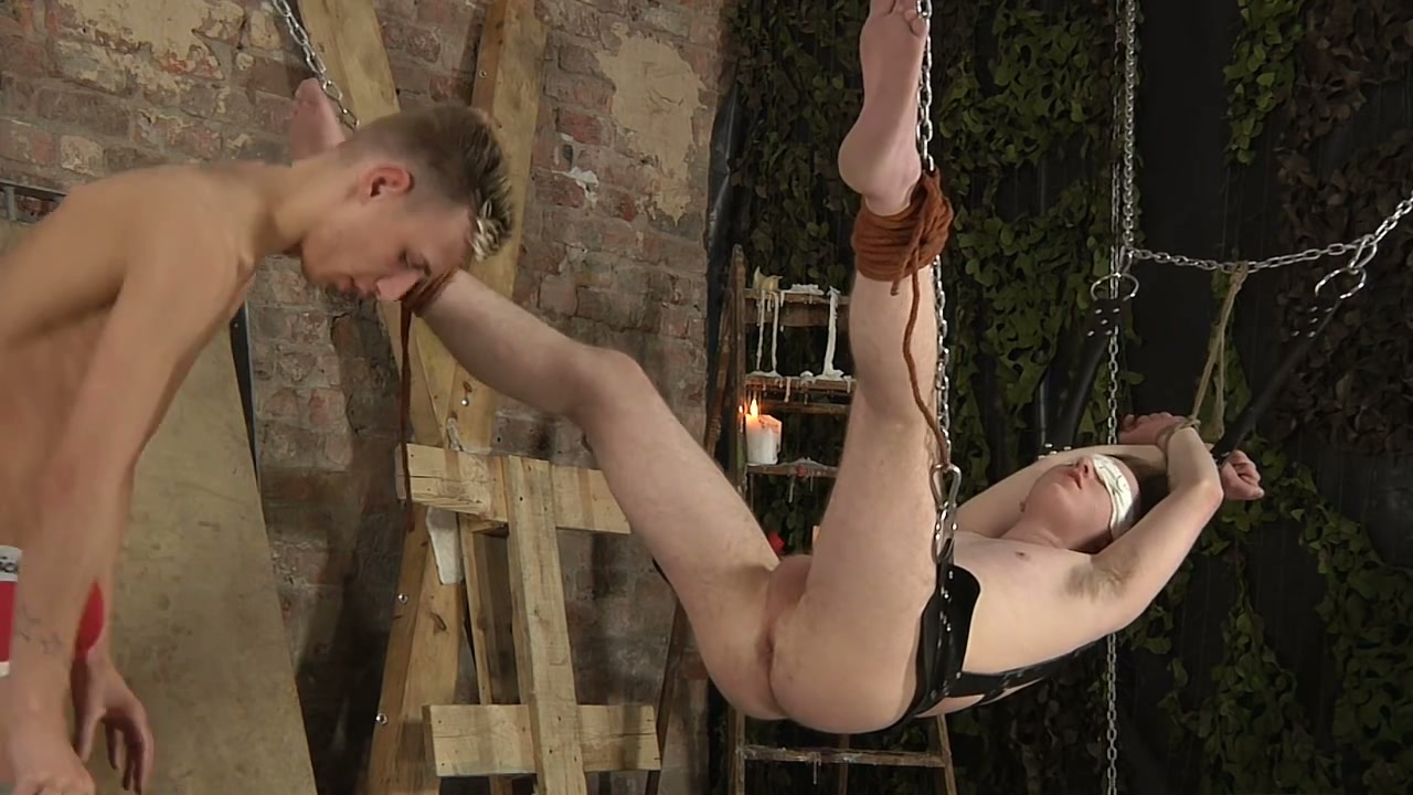 image Bdsm twink dominated over by his horny maledom