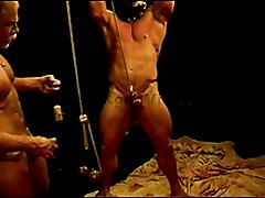 I have huge bodybuilder suspended from chains,