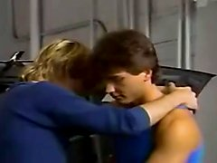 Retro  Bisexual Threesome in the Garage – vintage, bisexual, classic, hunks, oral sex, anal sex, blondes (xhamster)