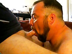 Slobbering on Daddy`s Cock