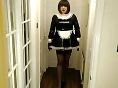 Candi Smokes the pvc maid.