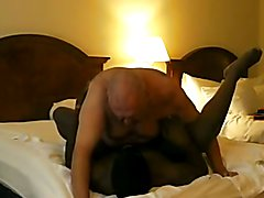 White Bear Master Uses Black Cub Slave BareBack