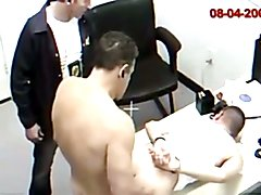 Bareback fucked at the police station 2