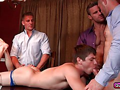 Naughty group gay sex with a twink Johnny Rapid and