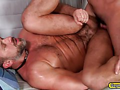 Billy Santoro and Dirk Caber are office gays finishing up work to call it a day when things ...