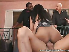 Swingers from Africa come to Screw My Wife Club to try