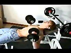 sammy in the gym