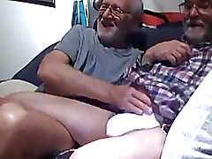 Old Man fucked by two Friends