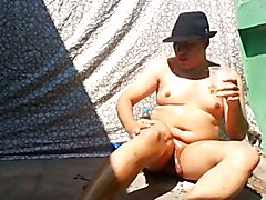 Nude Chubby shemale fisting ass