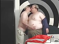 Pizza Guy and Chubby Blond Office Man