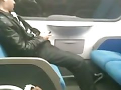 Horny Cutie on Train needs to play with himself..sniff