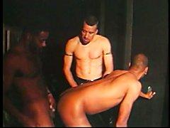 Hot kinky cock sucking threesome