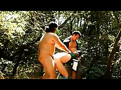 gangbang in the woods