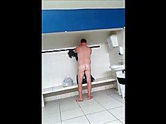 Men having a shower