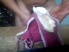 Licking and jeking on my wife's stinky dirty panties
