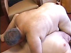 Chub fucks older fat man