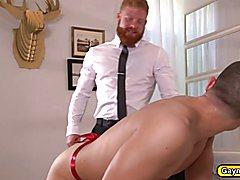Jacob got a sweet tight virgin anal and he offered it for the first time to Bennett and Benn...