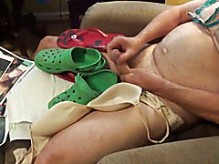 Fucking and cumming Green Crocks and more