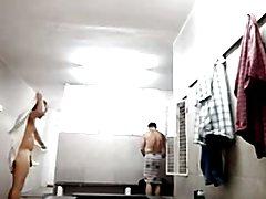 walking around naked in the locker room