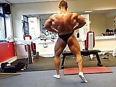 Str8 bodybuilder massive flexing  scene 2
