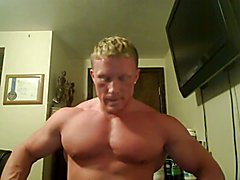 Str8 bodybuilder massive flexing  scene 5