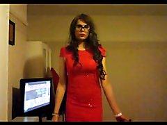 KaylaGirl80 - Crossdresser in Red Dress