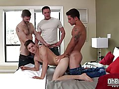Hot gay Johnny Rapid double anal fucked in various