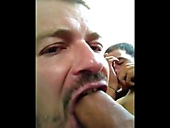 Blowing up a french arab's huge hairy cock