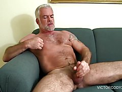 Hairy and Hung Daddy Jake Marshall Jerks Off
