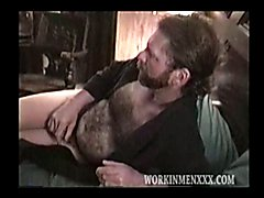 Mature Hairy Guy Strokes His Cock and Busts a Nut