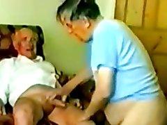 Real Grandpa horny sucking and playng