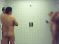 hot group public shower