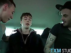 Twink Kai Alexander enjoys threesome with Adam and Reece
