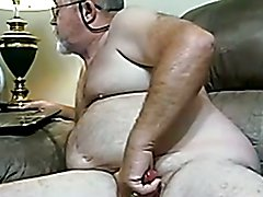 Grandpa Plays With Thick Cock