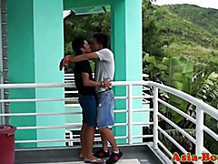 Ethnic filipino teen ass bareback pounded and jizzed on