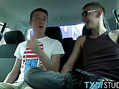 Twink Alex Hardy hardcore threesome fuck with Sean and Reece