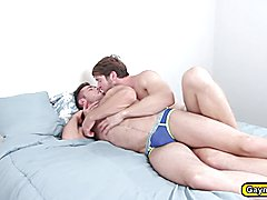 Colby sucking Alex deep throat fuck anal