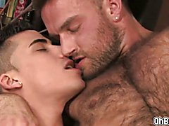 Deep throat and fucking that hairy anal