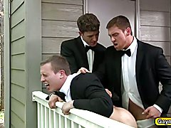 JJ Knight and Tommy Regan are perfect groomsmen and