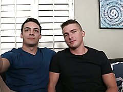 Twinks double anal fuck by a rubber dick