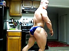Str8 bodybuilder massive flexing  scene 6