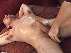 From all four camera angles, you see clear indication when Adrian's prostate is thoroughly...
