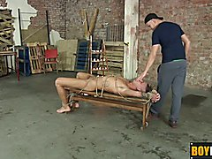 Tyler uncut cock gets blowjob and rough stroking from Deacon  scene 2