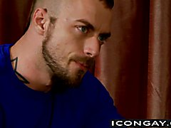 Muscled Jessie loves to suck Nick big and hard dick  scene 2