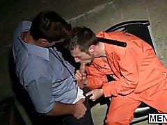 Kurt Wild gets fucked by a muscular prison guard Aspen