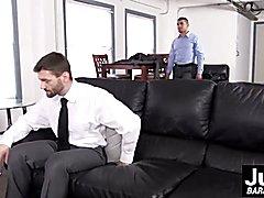 Businessman Dennis West spreads Jeremies tight asshole