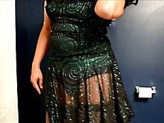 sissy cd in shiny club dress
