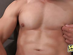 Newbie Hunk Shows of His Big Uncut Dick
