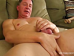 Giant cock daddy carlos beats off and cums giant