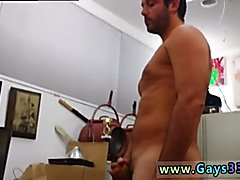 Caught straight gay man sucking cock and friendly blowjob Straight stud goes gay for cash